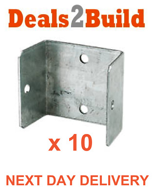 10 x Fence & Trellis Clips Bracket Panel Fixing Garden FREE NEXT DAY DELIVERY