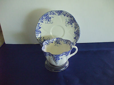 """A Beautiful Shelley """"Dainty Blue"""" Cup and Saucer Set. Excellent Condition."""