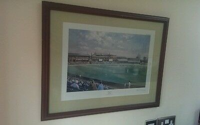 Alan Fearnley SIGNED Limited Edition Framed Print  Oval Cricket Ground 1/850