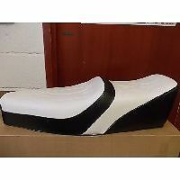 Vespa PX LML 2T PE T5 Classic King Queen Seat White and Black Embossed Top