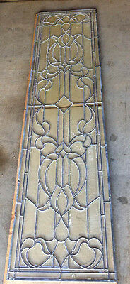 TWO Beautiful Hand Cut BEVELED LEADED CLEAR GLASS WINDOW OR DOOR Panes Post-1940