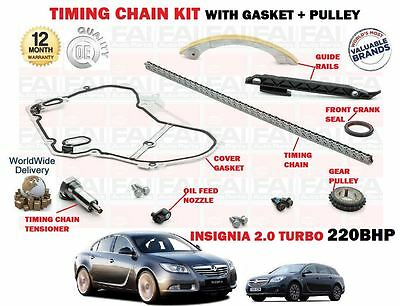 For Vauxhall Opel Insignia 2.0 Turbo 220Bhp 2008->New Timing Chain Kit + Gasket
