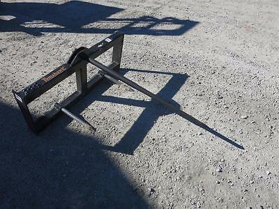 Tomahawk Quick Attach Hay Bale Spear For Skid Steer Loaders, 1800 Lb Max Weight