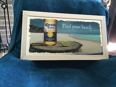"NEW! Corona Extra Find Your Beach Bar Mirror 26.5"" x 14.5"""