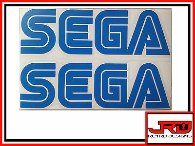 2 x Sega Logo Vinyl Stickers in Blue
