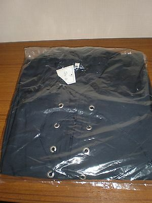 New men's Navy 100% cotton Jacobite shirt size M with cord fastening