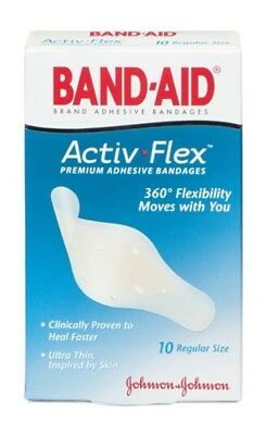 Band-Aid Brand Adhesive Bandages Activ-Flex Regular, 10 Count