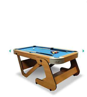 Riley 6ft Pool Table Snooker Tables Folding Portable Table Ball Game Billiards