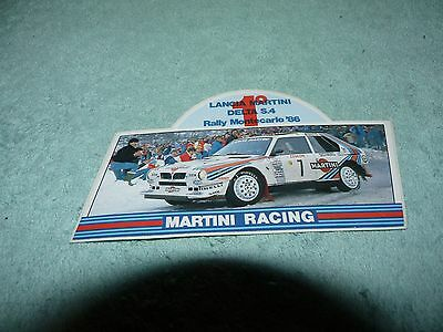 Adesivo Sticker DELTA S4 Martini Racing Rally Montecarlo 1986