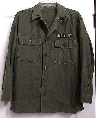 Vintage Army Shirt Jacket Size Small 1947-1958