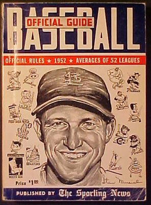1952 Sporting News Official Baseball Guide! Stan Musial Cover