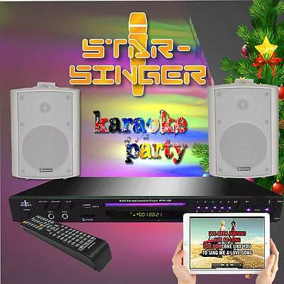 StarSinger Karaoke Machine  + 2 Microphones, Active 60 watt RMS Speakers (SIL)