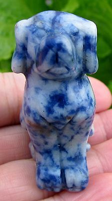 Charming Handmade Carved Lazurite Dog Statue,gem(1109)