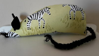 Catnip Mouse -  Green Zebra design - Handmade Cat Toy  X Strong Catnip
