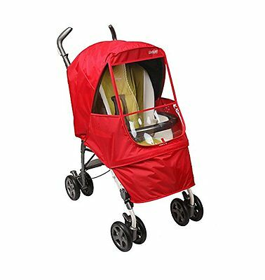NEW - Manito Elegance Alpha Stroller Weather Shield / Rain Cover - Red