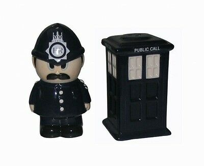 Salt & Pepper Set Collectable Police Box Doctor Dr Who Style Tardis