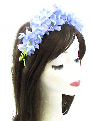 Lilac Wisteria Flower Headband Headpiece Light Purple Headpiece Fascinator 960