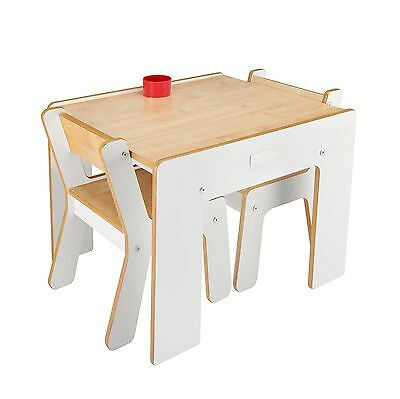 Little Helper New FunStation Duo Toddler Table and 2 Chair Set (White)