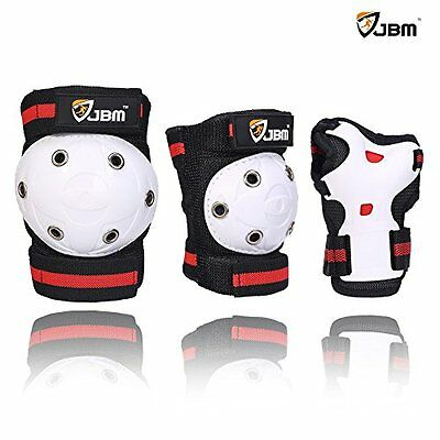 JBM Kids Child Knee Pads Elbow Pads Wrist Guards for Scooters, Skating, and #6T4