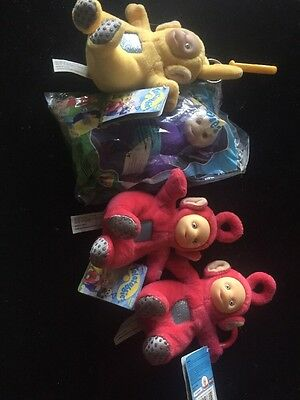 McDonalds Telletubbies Happy Meal Keychain Set of 4