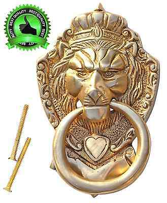 "PRACTICAL PRODUCT - SouvNear 6"" Lion Door Knocker with Hardware Large Antique Fi"