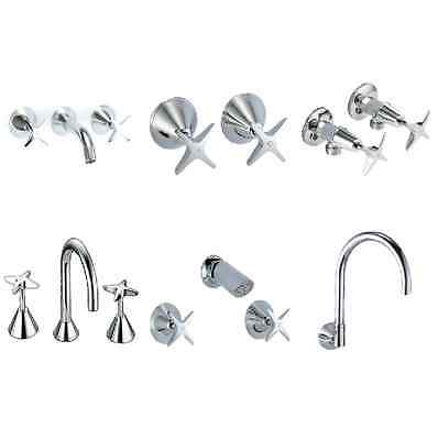 Catania Tapware Range - Basin, Bath, Washing Machine, Shower and Wall Taps Sets