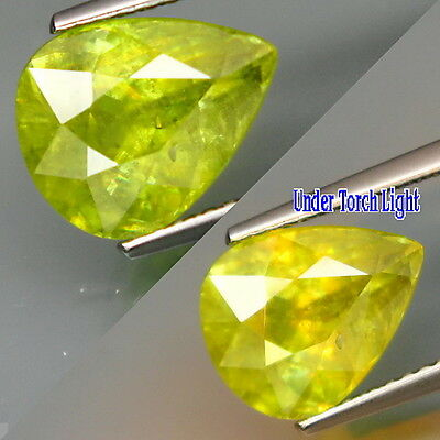 3.76ct Very Nice Untreated Yellowish Green Natural Sphene (Titanite) Gemstone.