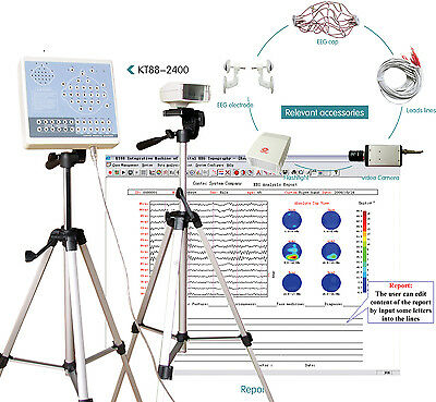 KT88-2400 Digital EEG Mapping System 24-channel,EEG machine,2 tripod+Software,CE