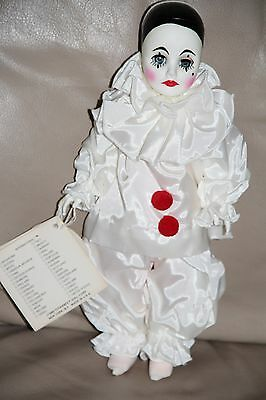 Vintage 1975 Effanbee Pierrot Collection French Figurine Clown Mime Jester Doll