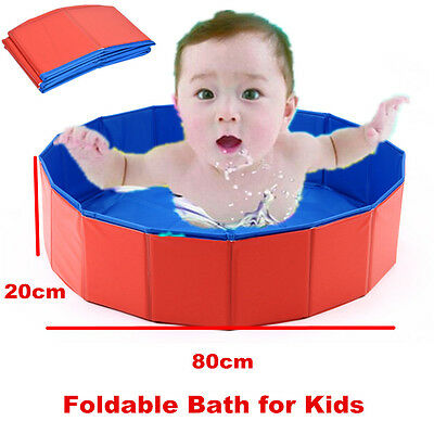 Foldable Kids Swimming Pool Bathing Tub Bathtub Kid Bath Washer 80cm x 20cm