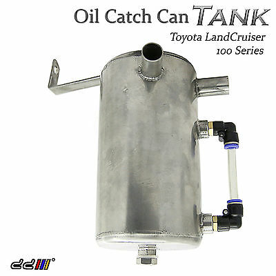 1pcs Stainless Steel Oil Catch Can Tank Fit Landcruiser 100 Series FJ100 4.2L