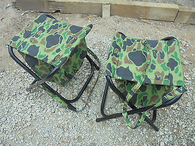 2 Foldup 38Cm High Fishing Seats With Zipup Storage And Shoulder Strap