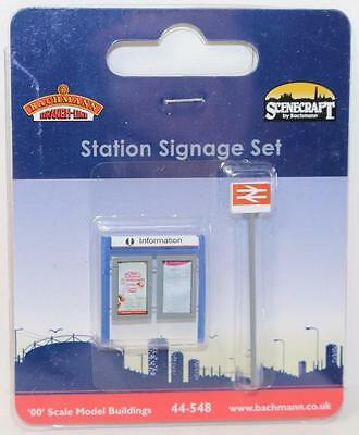 OO 1:76 scale 44-548 Bachmann Scenecraft Station Signage Set New FNQHobbys