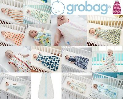Grobag The Gro Company Assorted Designs Sizes Tog 0.5 100% Cotton 24-27 deg C