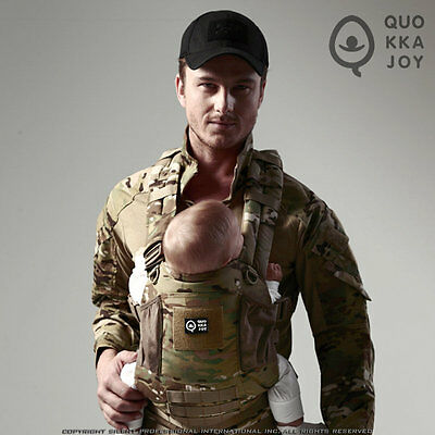 QUO KKA JOY Multicam BABY Sling ( BABY Harness Baby Carrier CP arcteryx leaf )