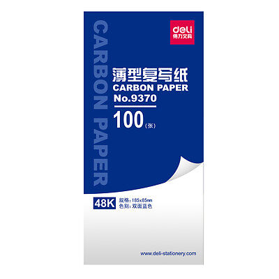 100 SHEETS 48K CARBON PAPER HAND COPY Handwriting –BLUE FREE SHIPPING