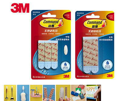 2Sets 3M Command Waterproof Refill Strips Damage-Free Water Resistant FREE SHIPP