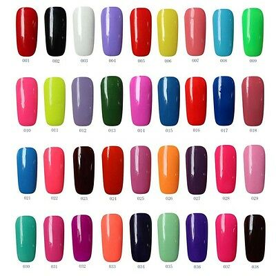 178 Colors 6ml Nail Art Soak Off Glitter Color UV LED Gel Polish Lamp Manicure