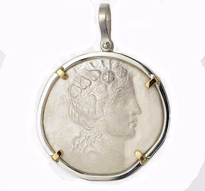 Sterling SIlver & 14kt Gold Ancient Greece Dionysos / Bacchus Pendant 140 B.C.