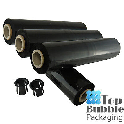 Black 25um Cast Pallet Wrap - 4 Rolls Stretch Shrink Film SYDNEY FREE SHIPPING
