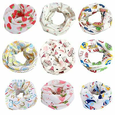 Baby Kids Toddler Cotton Neck Scarf Snood Boy Girl Toddler Round Scarf Wrap Cute