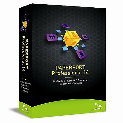 NUANCE PaperPort Professional 14.0 Version 14 ✔NEW✔