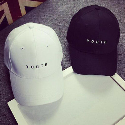 YOUTH Letter Embroidery Cotton Baseball Cap Boys Girls Snapback Hip Hop Hat RO