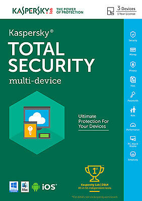 KASPERSKY PURE TOTAL SECURITY 2017 MULTI-DEVICE, 3 PC / 1Year / NO CD