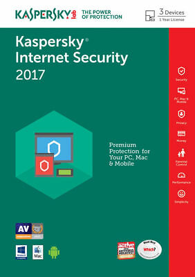 Kaspersky Internet Security 2016 1Pc/user/1Year, Fast Delivery, Antivirus, No Cd