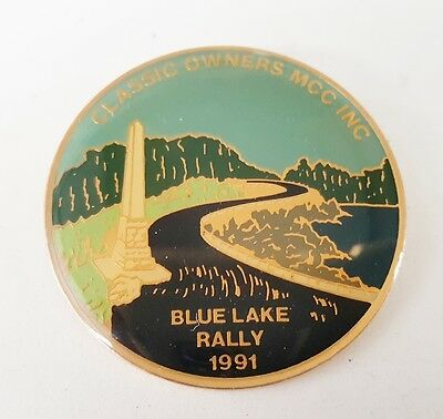 1991 Classic Owners  MOTORCYCLE CLUB BLUE LAKE  Rally BADGE