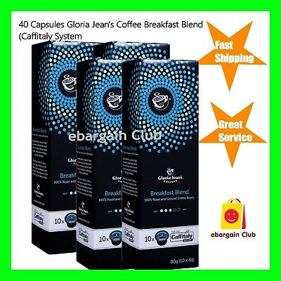 40 Capsules Gloria Jeans Coffee Breakfast Blend Capsule Pod Caffitaly System
