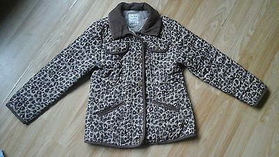 Girls Next Leopard Print Quilted Coat Age 9 - 10 years