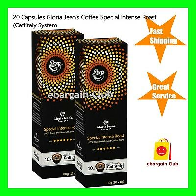 20 Capsules Gloria Jeans Coffee Special Intense Roast Pod Caffitaly System
