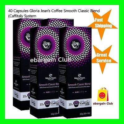 40 Capsules Gloria Jeans Coffee Smooth Classic Blend Pod Caffitaly System eBClub
